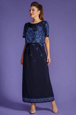 Платье, цвет темно-синий