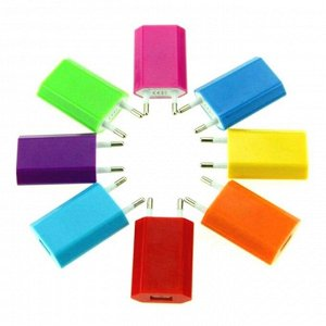"""""""FORZA"""" Зарядное устройство USB 220в 1А  6цв. 931-227"""
