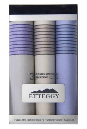 """Etteggy"" Набор мужских носовых платков 3шт, 40х40см, P45430"