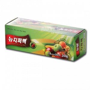 """""""New Wrap"""" Пакеты для пищевых продуктов (волнообразный шов), 17см * 25см, 100 шт"""