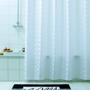 "Штора для ванной ""Quadretto"" 240х200см  4062"