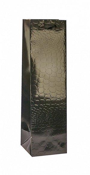 """Пакет под бутылку """"Кайман"""" черный 36х10,5х10,5см  ВК452-D ВЭД"""