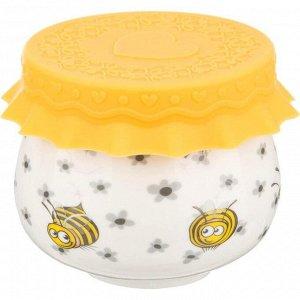 """""""Веселые пчелки"""" Горшочек для меда 180мл с силиконовой крышкой 359-307"""