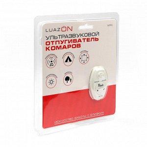 Отпугиватель насекомых LuazON LUNIG-02, ультразвуковой, 3 м2, питание CR-2032, белый
