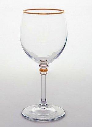 """Оливия"" Набор бокалов для вина 6шт, 200мл, отводка золото 651664"