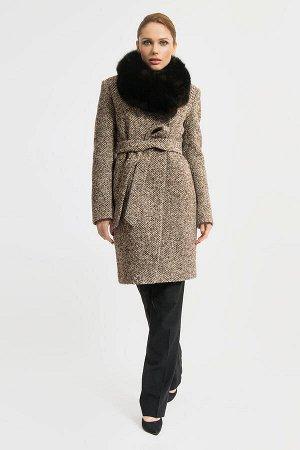 Пальто Gotti 115/4м коричневая елочка