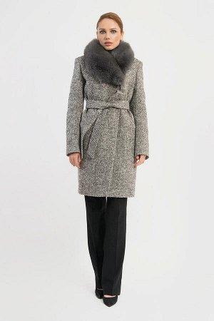 Пальто Gotti 115/5м коричневая елочка