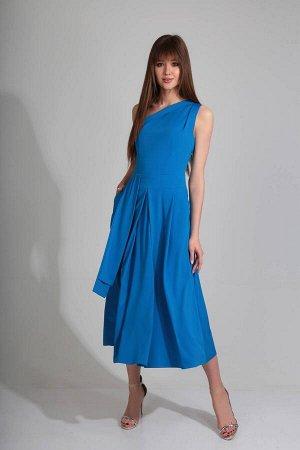 Платье Платье Golden Valley 4354 №2  Состав ткани: ПЭ-100%;  Рост: 170 см.  Платье без воротника, с асимметричным вырезом горловины, застежкой на потайную молнию в левом боковом шве. Платье отрезное