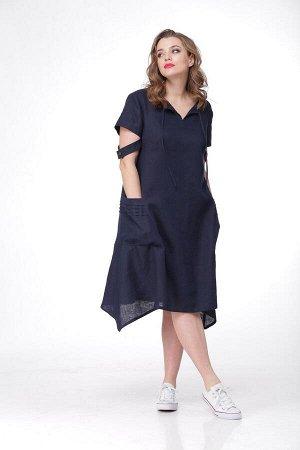 Платье MALI 470 темно-синий