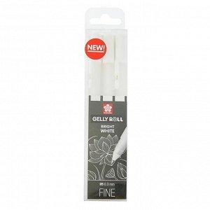 Ручка гелевая для декоративных работ набор 3 штуки Sakura Gelly Roll 0.3 мм белый