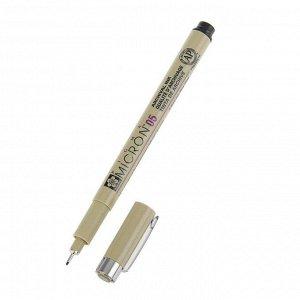 Ручка капиллярная для черчения Sakura Pigma Micron 05 линер 0.45 мм, черный, (высокое содержание пигмента)