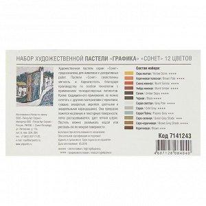 Пастель сухая художественная «Графика», «Сонет», 12 цветов