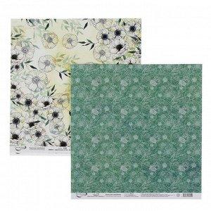 """Набор бумаги для скрапбукинга """"Цветочный атлас.Анемоны"""" 190 г/кв.м 30.5 * 30.5см (7 листов)"""