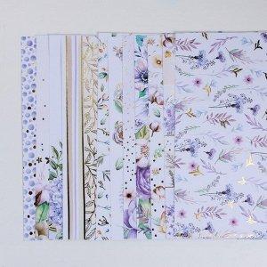 Набор бумаги для скрапбукинга с фольгированием «Цветочная галерея», 12 листов, 30.5 ? 30.5 см