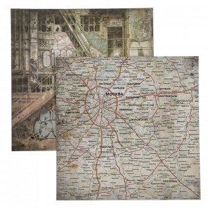 """Набор двухсторонней бумаги для скрапбукинга """"Город контрастов"""" 24 шт 15х15 см"""