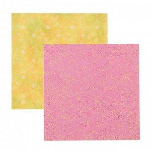 """Набор бумаги для скрапбукинга """"Фруктовая"""" (6 листов) 20х20 см, 190 гр/м2"""