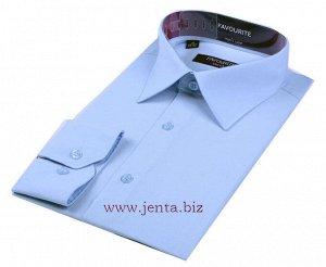 Рубашка классическая мужская голубая