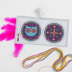 Вышивка крестиком, игрушка «Волшебная сова». Набор для творчества