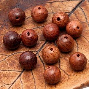 ОПТ Бусины Бодхи деревянные красно-коричневые, диаметр 8мм