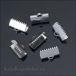 Зажимы для лент, хирургическая сталь, р-р 13х12.5мм, отв-е 2мм