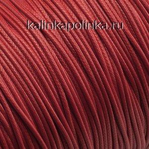 Шнур вощёный полиэстеровый, цвет красный, толщина 1.5мм