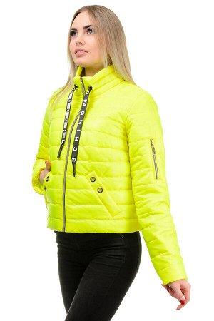 Демисезонная куртка «Илва», р-ры 42-48, №238 лимон