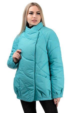 Демисезонная куртка «Эдита», р-ры 44-50, №237 бирюза