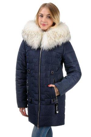 """Зимняя куртка """"Астрит"""", р-ры 42-50, №228, джинс"""