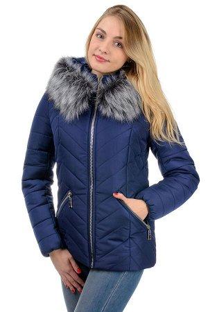 """Зимняя куртка """"Конти"""", р-ры 42-50, №226 т.синий"""