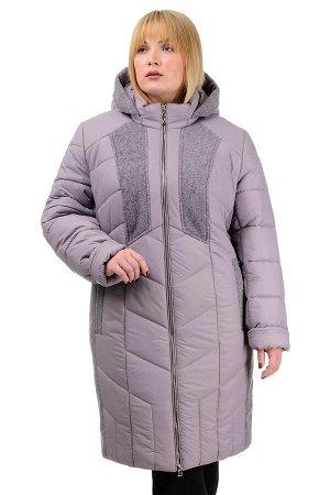 Зимнее пальто «Иллиада», р-ры 50-60, №224 пудра