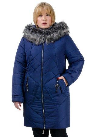 Женская зимняя куртка «Ирма», р-ры 46-54, №222 синий