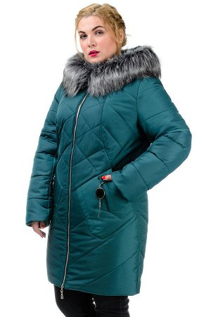 Женская зимняя куртка «Ирма», р-ры 46-54, №222 зеленый