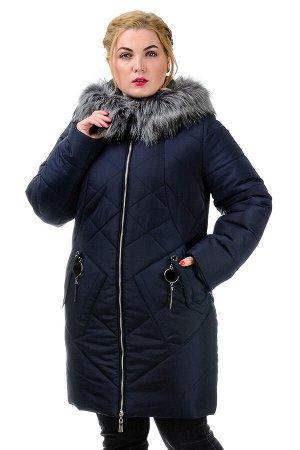 Женская зимняя куртка «Ирма», р-ры 46-54, №222 т.синий