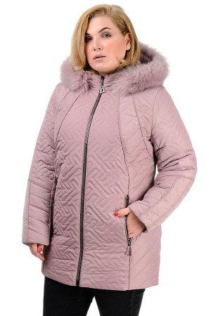 Зимняя куртка «Кимберли», р-ры 50-58, №220 пудра