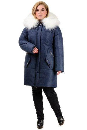 Зимняя куртка-парка «Метелица», р-ры 46-52, №221 джинс