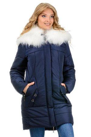 Зимняя куртка-парка «Снежана», р-ры 46-52, №219 т.синий