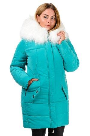 Зимняя куртка-парка «Снежана», р-ры 46-52, №219 бирюза