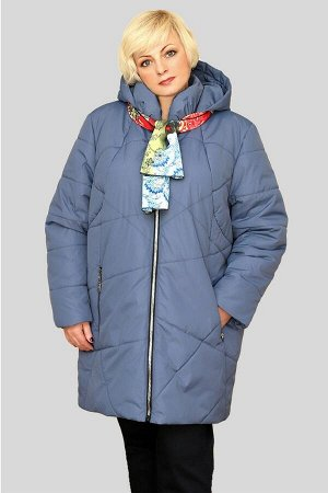 Куртка женская демисезонная Марта серо-голубая