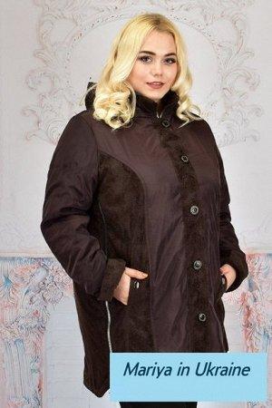 Демисезонная куртка Стефания 001 (62-70) шоколад