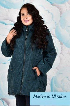 Демисезонная куртка Кристина 002 (58-72) морская волна