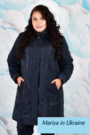 Демисезонная куртка Алексия 003 (58-72) синий