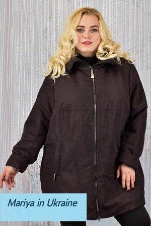 Демисезонная куртка Биата 002 (60-72) шоколад