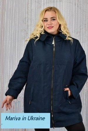 Демисезонная куртка Биата 001 (60-72) синий