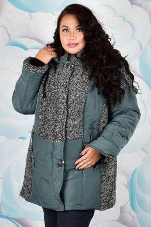 Куртка женская зимняя Стелла 003 (60-72) шалфей