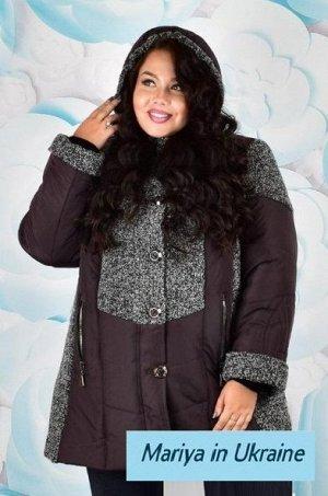 Куртка женская зимняя Стелла 002 (60-72) шоколад