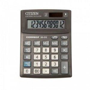 Калькулятор CITIZEN CMB1201-BK/SD-212 Correct настольн 12 разр батарея/фотоэлемент (138*103мм)/40/