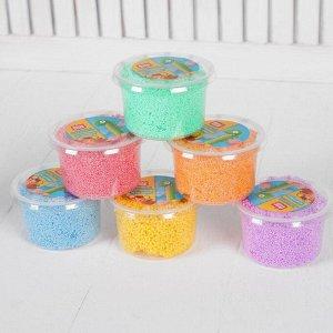 Набор шарикового мелкозернистого пластилина с блестками ДобрБобр, 6 цветов, 750 мл