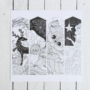 """Раскраска антистресс, альбом """"Мир магии"""", 20 стр."""