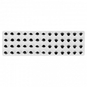 Глазки на клеевой основе, набор 52 шт, размер 1 шт 0,8 см