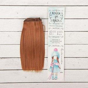 Волосы - тресс для кукол «Прямые» длина волос: 15 см, ширина:100 см, цвет № 30